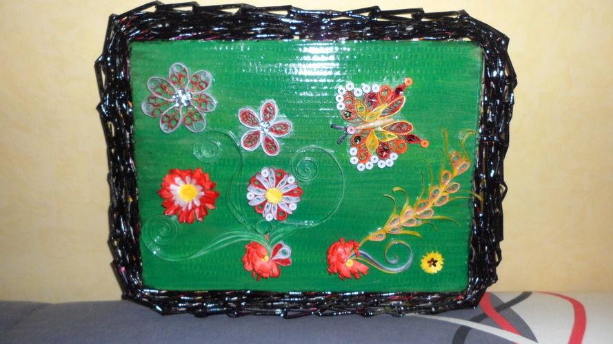 Makerist - Vannerie Papillon et Libellule (papier journal & quilling) - Autres créations - 1