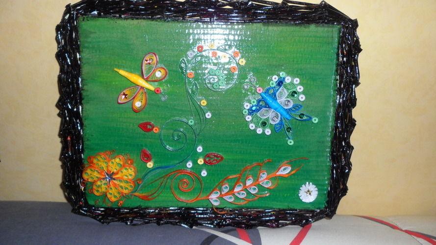Makerist - Vannerie Papillon et Libellule (papier journal & quilling) - Autres créations - 2