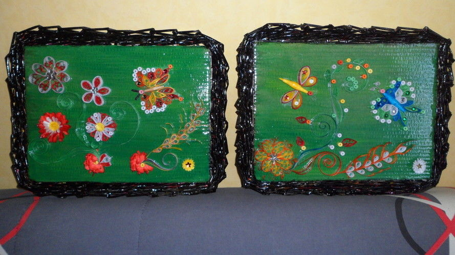 Makerist - Vannerie Papillon et Libellule (papier journal & quilling) - Autres créations - 3