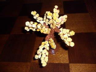 Vannerie Mimosa et Cerisier (papier journal et quilling)