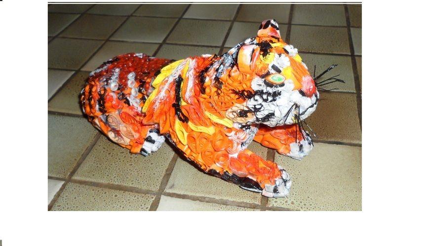 Makerist - Vannerie Tigre en Quilling - Autres créations - 1