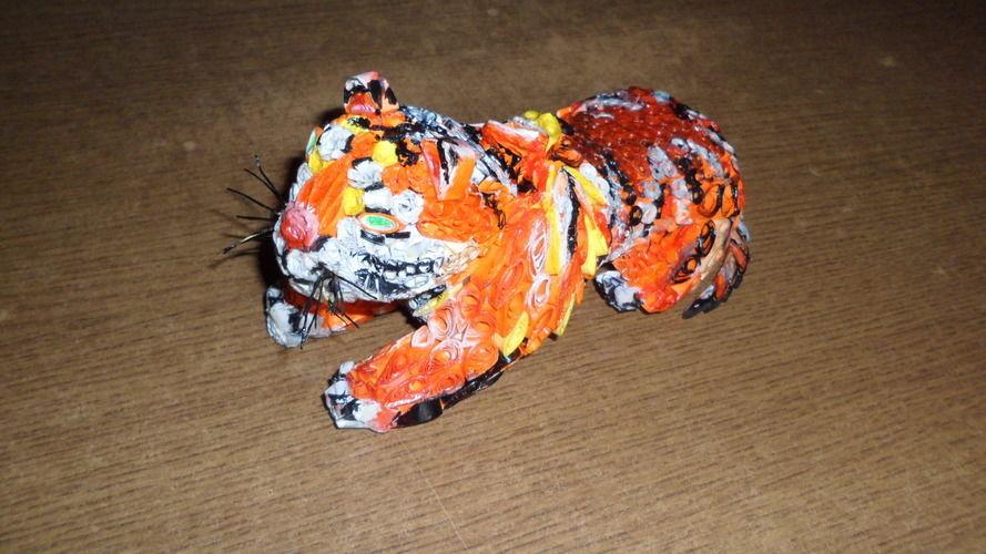 Makerist - Vannerie Tigre en Quilling - Autres créations - 2