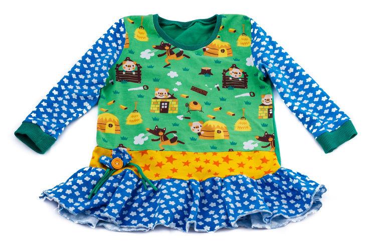 Makerist - Herbstkombi-Kleid mit Schweinchen  - Nähprojekte - 1