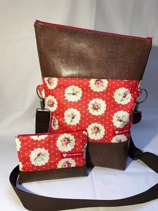 Foldover Tasche von Hansedelli mit passendem Kosmetiktäschchen