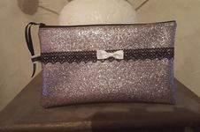 Makerist - grande pochette en faux cuir brillant doublé en cotonnade  - 1