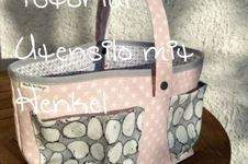 Makerist - Freebie für Utensilo / Körbchen mit Henkel - 1