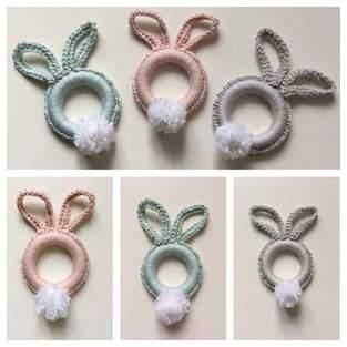Makerist -  Osterhasen -Ringe in verschiedenen Farben und Größen aus Baumwollgarn gehäkelt - 1
