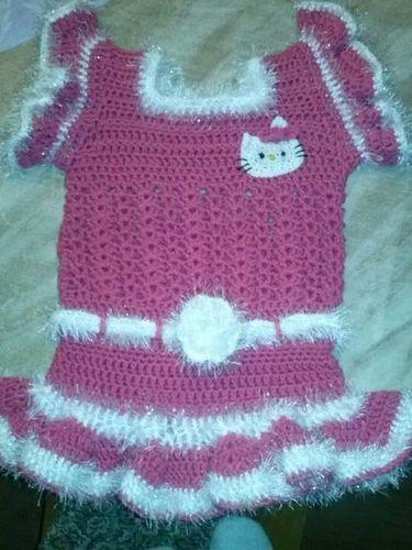 Makerist - Hello Kitty Kleidchen für meine Tochter - Häkelprojekte - 1
