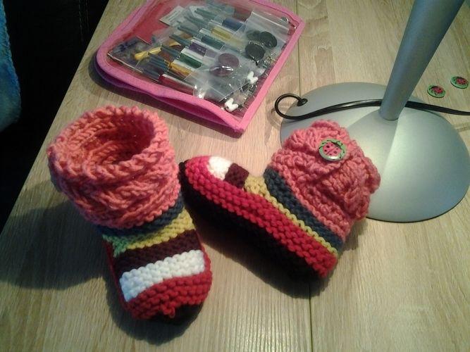 Makerist - chaussons enfants - Créations de tricot - 3