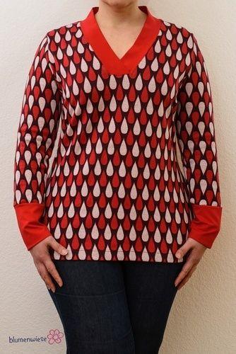 Makerist - Shirt mit V-Ausschnit von Lillesol - Nähprojekte - 1