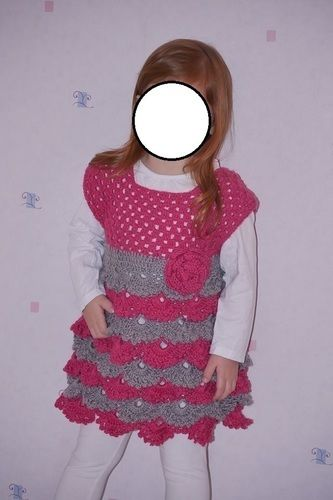 """Makerist - Robe au crochet point fantaisie """"éventail"""" taille 3 ans  - Créations de crochet - 1"""
