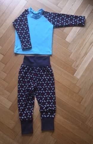 👶🏼 Maritime Pumphose und Raglan Shirt