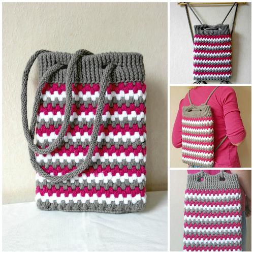 Makerist - Eine Tasche und ein Rucksack in einem. - Häkelprojekte - 1