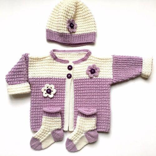 """Makerist - Babyset """"Frieda"""" - Strickprojekte - 1"""
