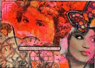 Postkarte Mixed Media