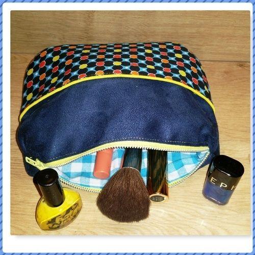 Makerist - CONCOURS - Trousse à maquillage en suédine - Créations de couture - 1