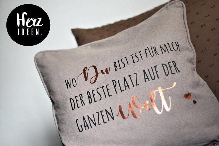 """Makerist - Plotterdatei """"Wo du bist"""" von Herzideen - Textilgestaltung - 2"""