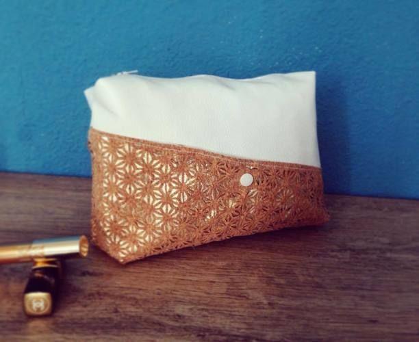 Makerist - Trousse Make Up / Liège Gold White - Créations de couture - 1