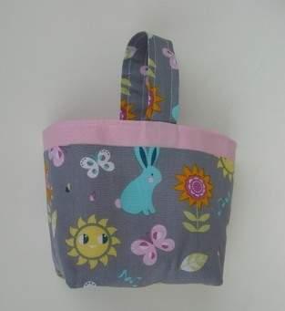 Panier de Pâques, Panier pour doudou ou pour le goûter 100% coton * Idée cadeau idéal pour enfant