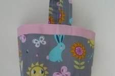 Makerist - Panier de Pâques, Panier pour doudou ou pour le goûter 100% coton * Idée cadeau idéal pour enfant  - 1