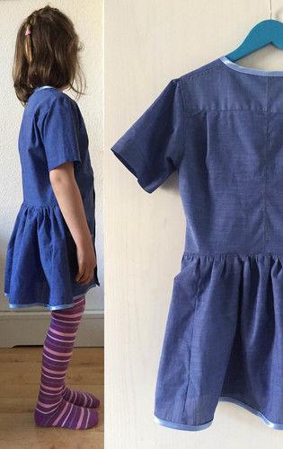Makerist - einfaches Kinderkleid aus einem Herrenhemd - Nähprojekte - 1