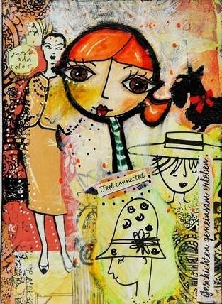 Makerist - Mixed Media Postkarte - 1