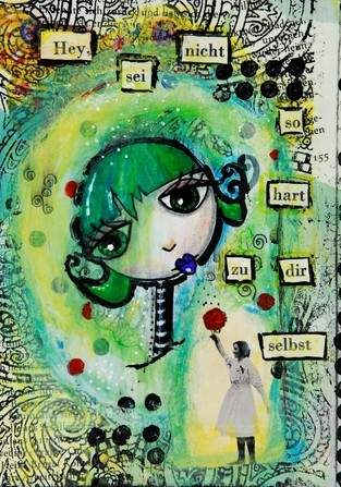 Mixed Media Postkarte
