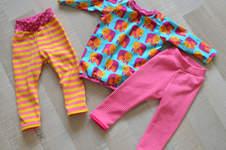Makerist - Lustiges Fanti-Shirt mit Streifen-Leggings für meine kleine Nichte - 1