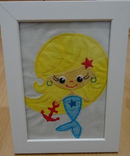 Makerist - Gestickte Meerjungfrau von Nikiko - DIY-Projekte - 1