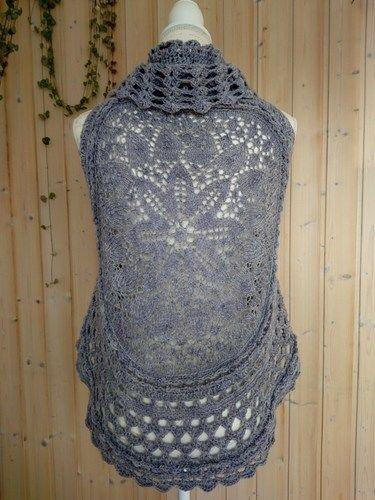 Makerist - kreisGILET Vintage Lila - Strickprojekte - 1
