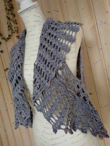 Makerist - kreisGILET Vintage Lila - Strickprojekte - 3