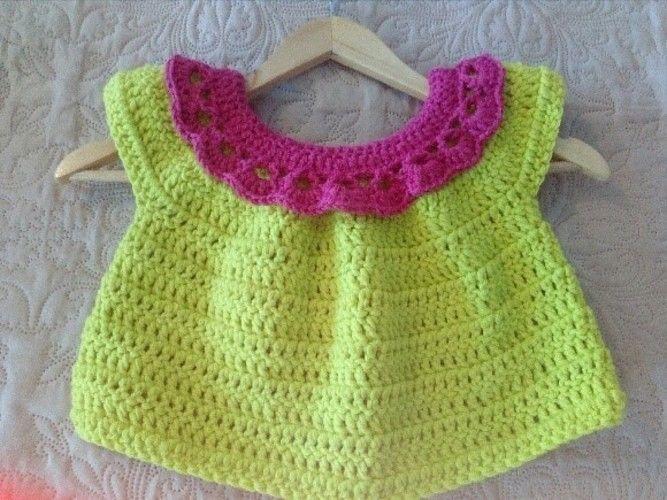 Makerist - Cardigan court taille 3 ans crocheter en fil 100% polyester de chez GRUNDL couleur vert anis - Créations de crochet - 2