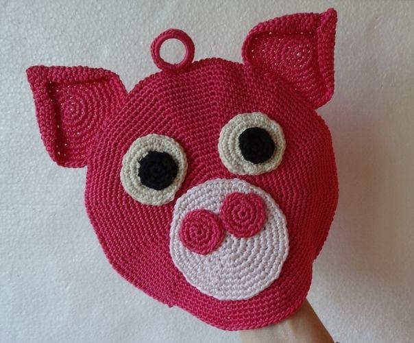 Makerist - Es ist wieder Erdbeer und Eiszeit  ;-) dazu ein Schwein Topflappen als Deko und Glücks bringer  - Häkelprojekte - 3