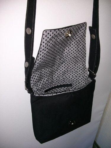 Makerist - schwarze Tasche - Nähprojekte - 2