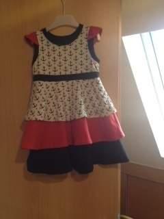Für unsere Kleine ein richtig süsses Kleidchen aus Jersey