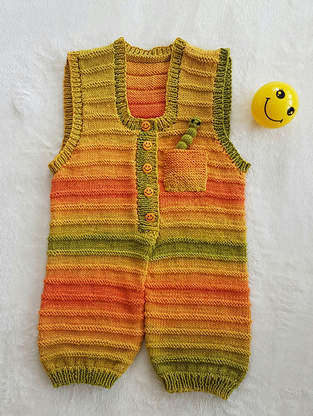 Sunshine Smiles Playsuit in DK Cotton yarn