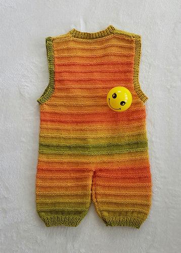 Makerist - Sunshine Smiles Playsuit in DK Cotton yarn - Knitting Showcase - 2