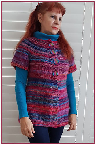 Makerist - Over The Rainbow Cardigan-Top, so versatile, is it a cardigan is it a top? - Knitting Showcase - 1