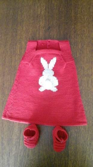 Robe motif lapin et sa queue pompon