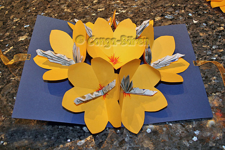 Makerist - DIY - Blumen-Geld-Karte - DIY-Projekte - 1