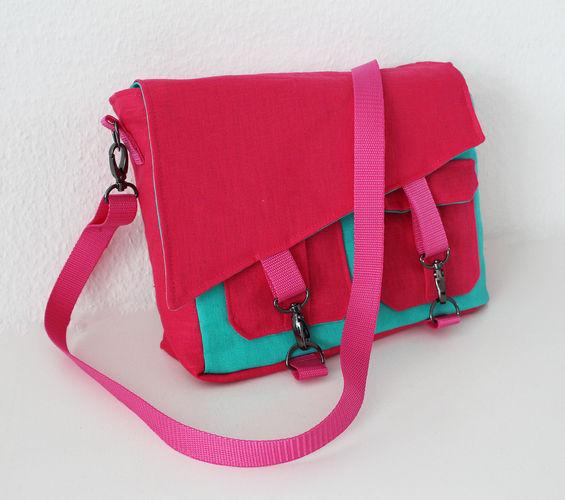Makerist - Tasche Ajan mit schräger Klappe - Nähprojekte - 1