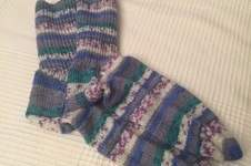 Makerist - Meine Lieblingssocken gestrickt aus Regia Sockenwolle. Diese Socken hab ich mal mir gegönnt 😜 - 1
