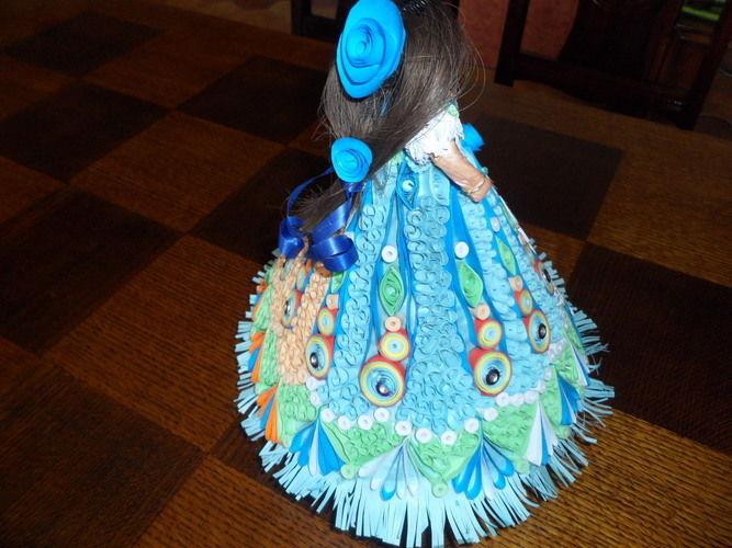 """Makerist - Poupée """"bleu"""" en Quilling - Autres créations - 2"""