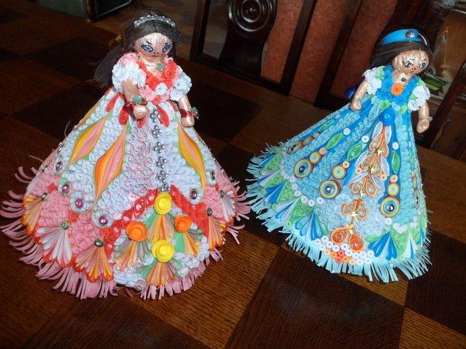 Makerist - Poupée en Quilling (Rose et Bleu) - Autres créations - 1