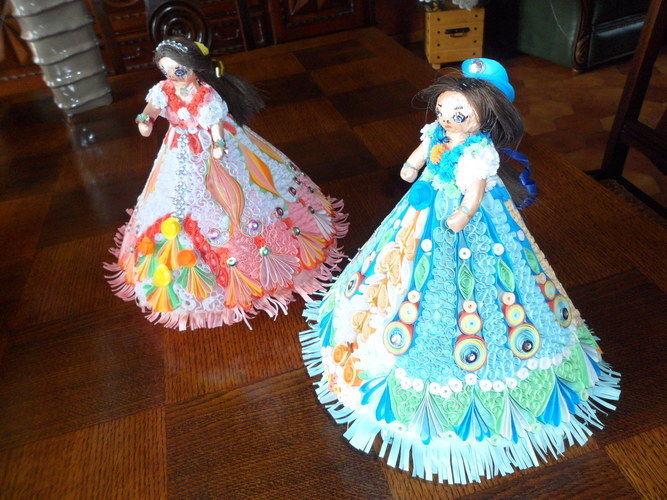 Makerist - Poupée en Quilling (Rose et Bleu) - Autres créations - 2