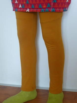 Makerist - Senffarbene Leggings von Konfetti Patterns - 1