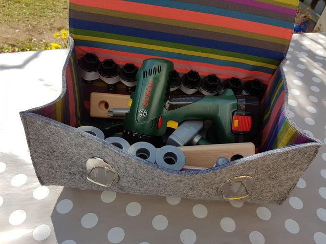 Makerist - Werkzeugtasche aus Arztkoffer  - Nähprojekte - 2