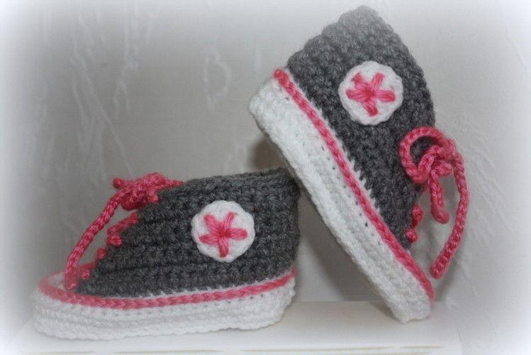 Makerist - .... Chucks fürs Baby .... - Häkelprojekte - 1
