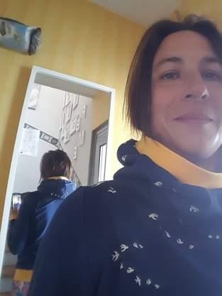 Hoodie mit Mega-Kragen und Kapuze  für mich selbst