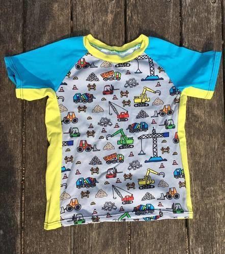 "Makerist - ""Hauptsache Bagger"" - Raglan-Sommershirt aus Jersey - Nähprojekte - 1"